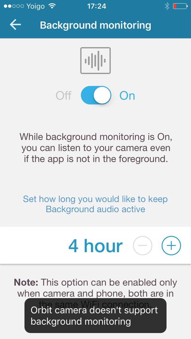 Can I use my mobile device for audio monitoring?
